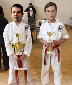 Trump Jr. & Kushner with trophies