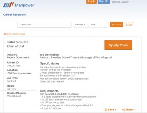 ManpowerGroup job ad